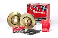 Brembo sada Sport line drážkované kotouče přední + desky LANCIA Delta (II) -- Turbodiesel 1.9 / HPE -- rok výroby 97-99