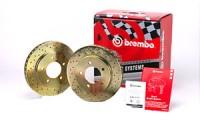 Brembo sada vrtaných sportovních kotoučů zadní  LANCIA Delta (II) -- 1.4i (+ ABS) - rok výroby 96-99 (RD.009.000)